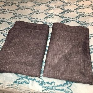 Two single panel curtains